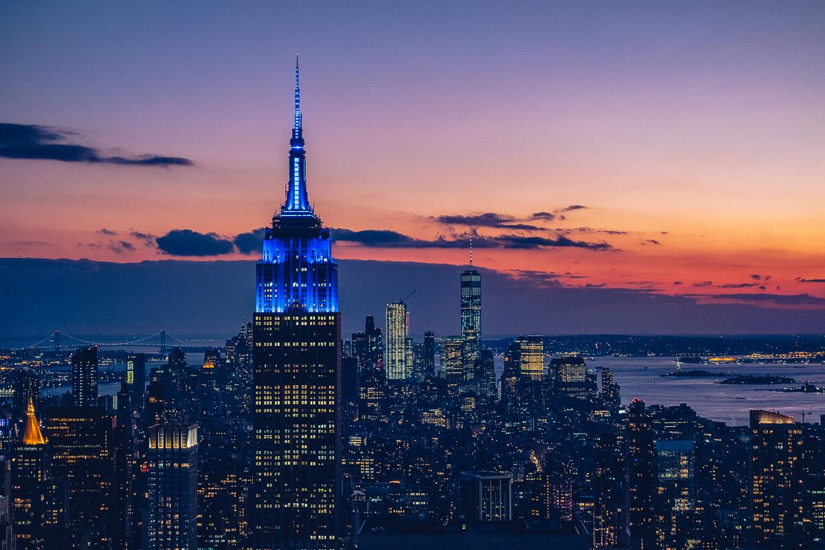 refuse to hibernate new york empire state building nuit