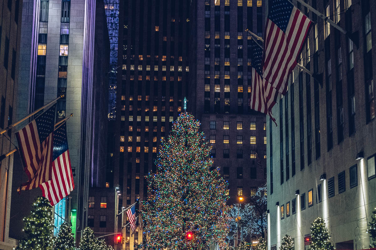 refuse to hibernate new york rockefeller center sapin noel nuit