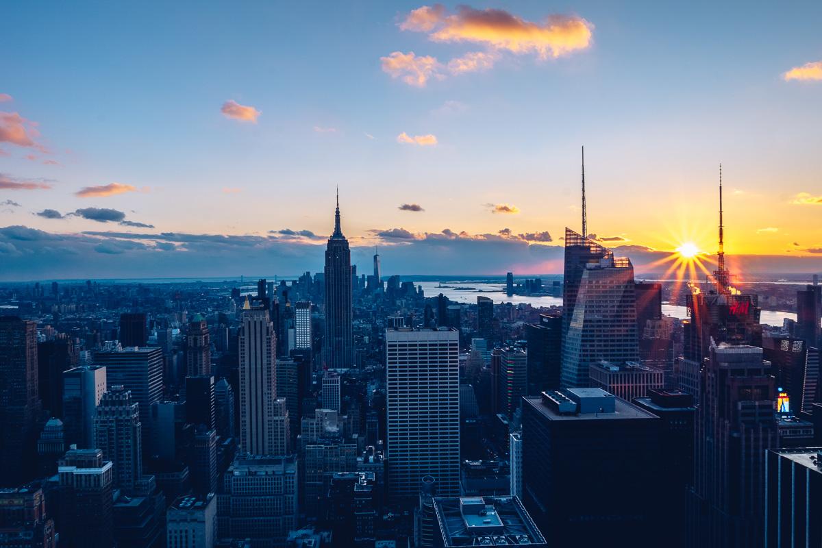 refuse to hibernate new york coucher de soleil rockefeller center