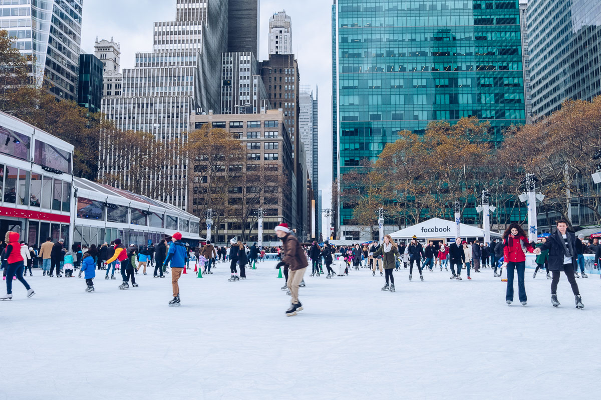 refuse to hibernate new york patinoire bryant park