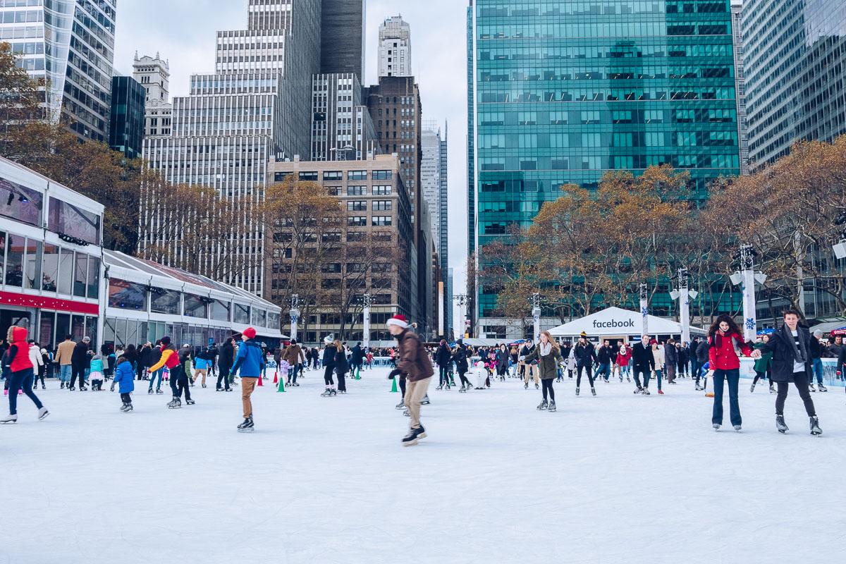 refuse to hibernate new york patinoire bryant park