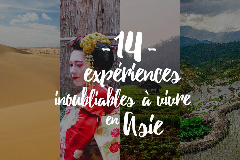 14 expériences inoubliables à vivre en Asie