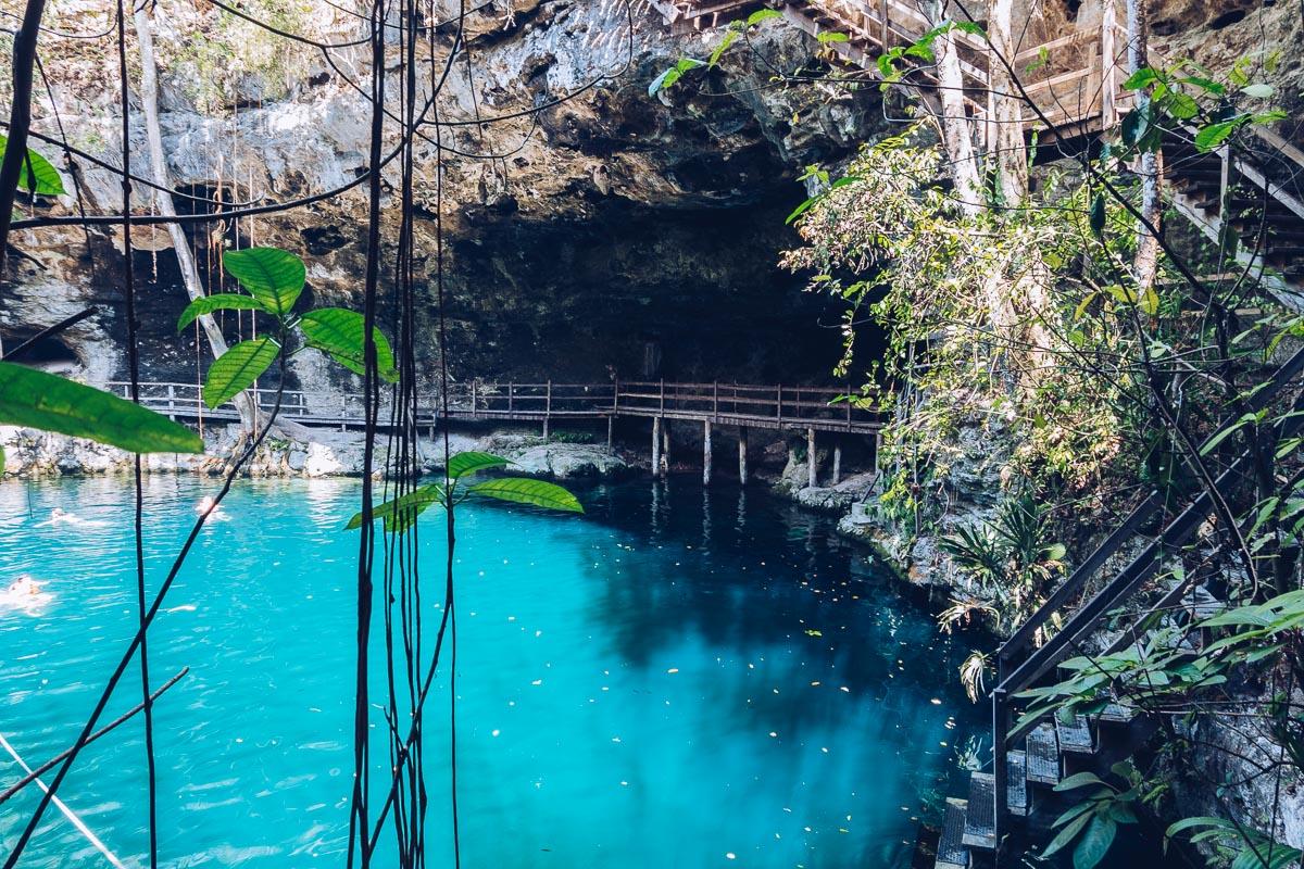 Refuse to hibernate yucatan ek balam cenote xcanche escalier