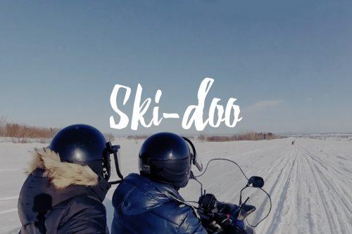 Ski-doo sur l'Île d'Orléans