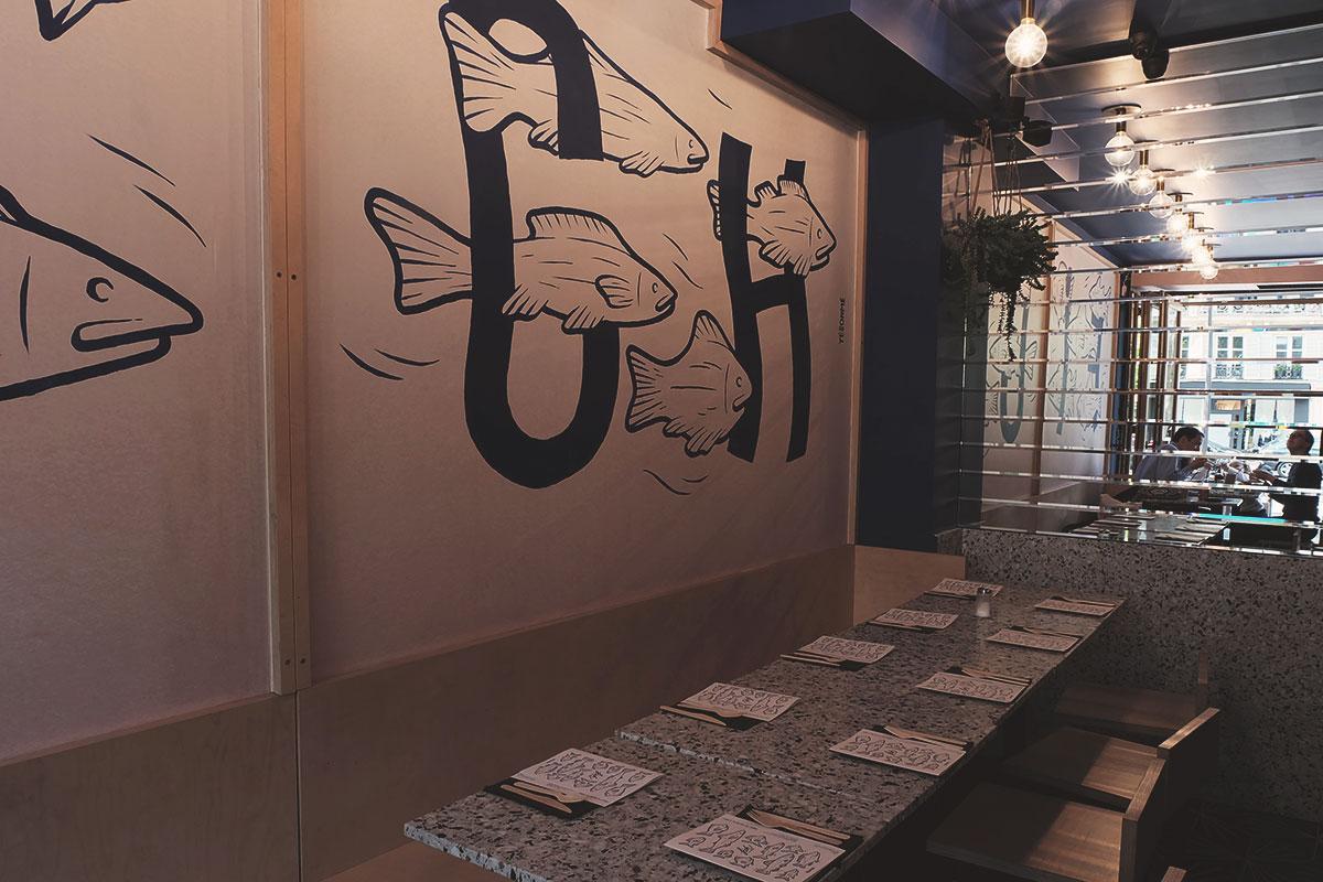 FICH decoration du restaurant poissons Refuse to hibernate
