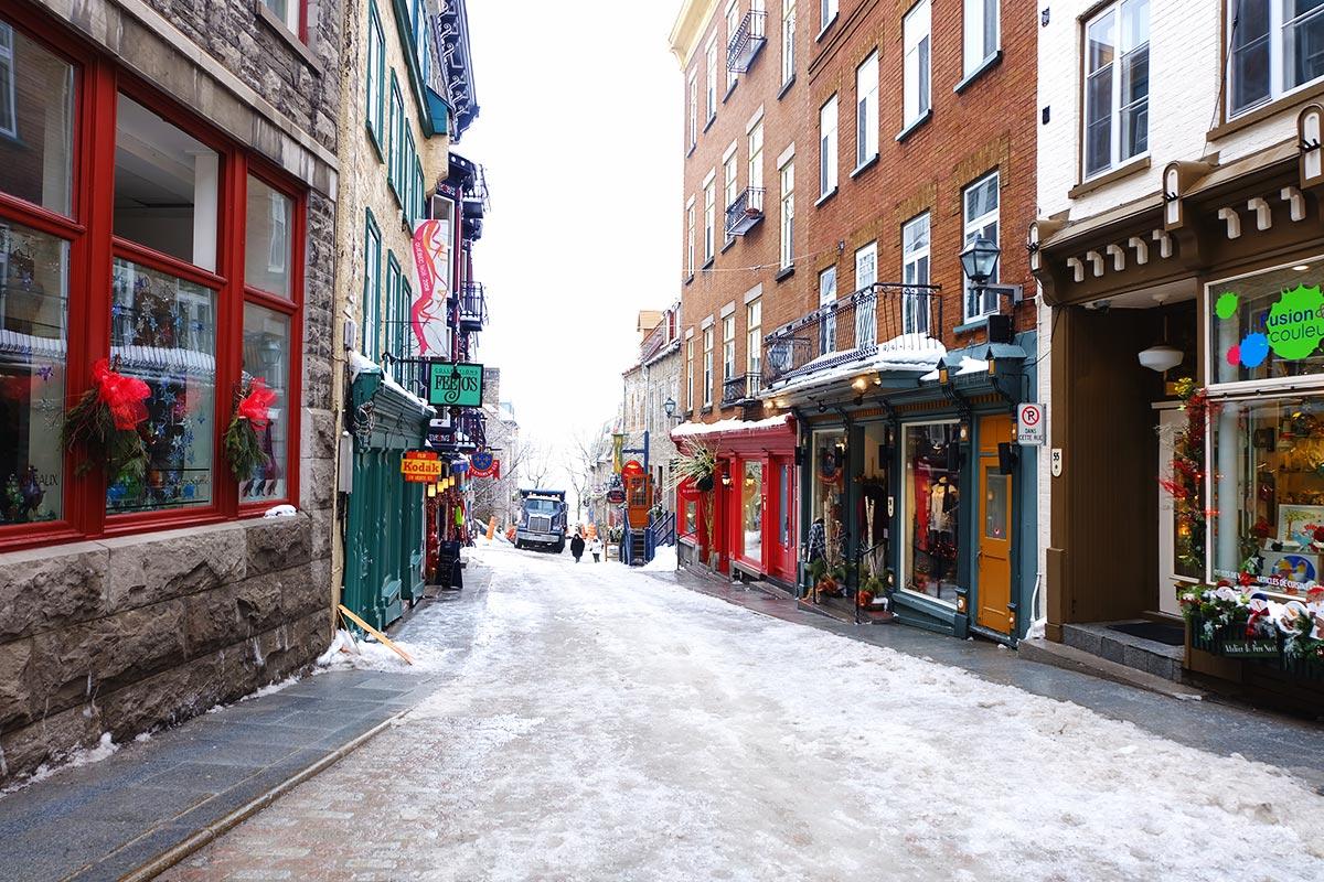 Refuse to hibernate Québec ruelle de la Basse-Ville