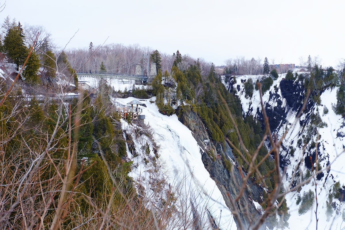Refuse to hibernate Québec chute Montmorency