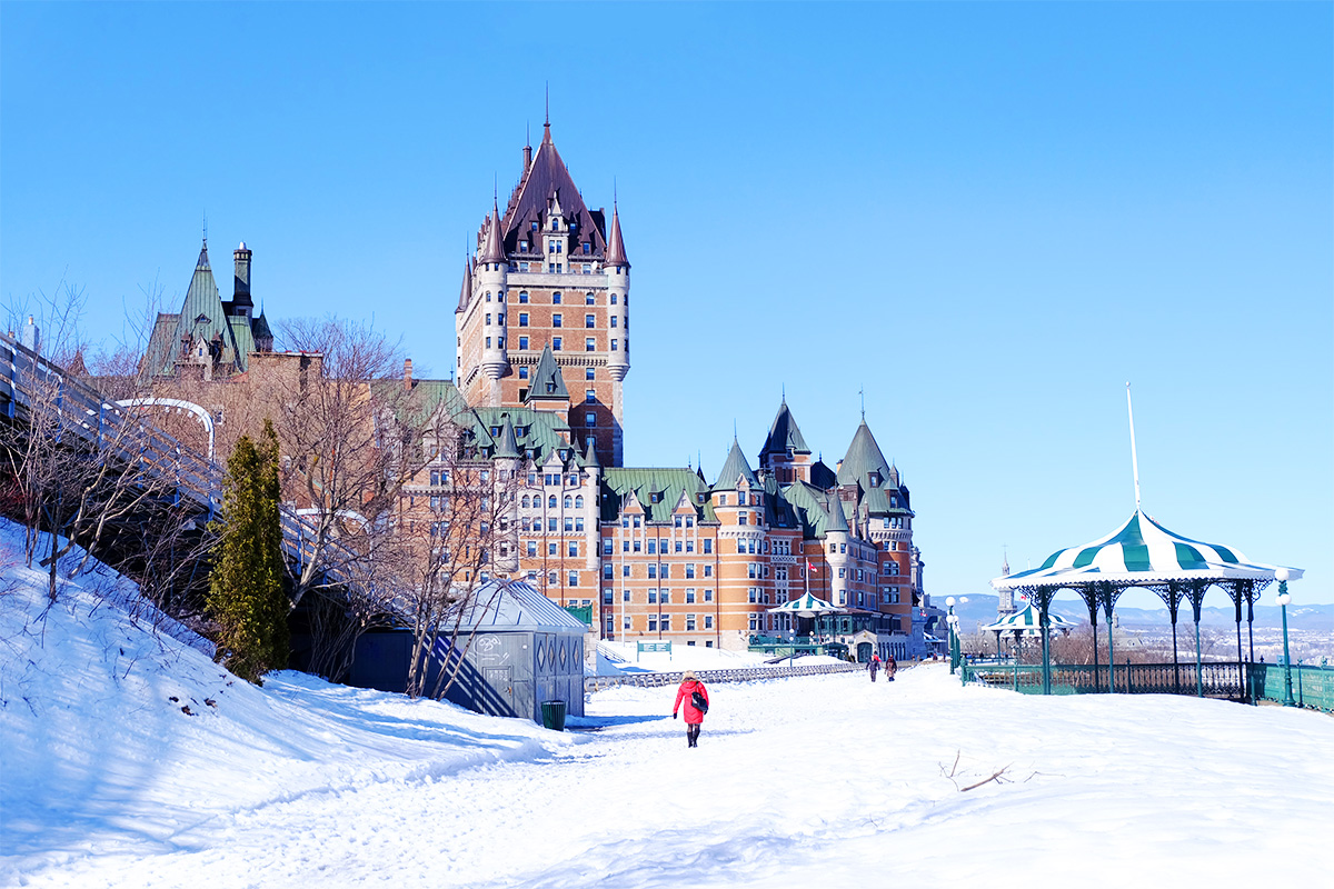 Refuse to hibernate Québec château de Frontenac