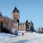 Château de Frontenac enneigé à Québec