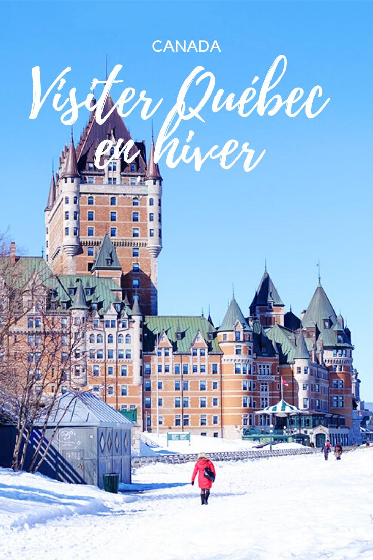 visiter quebec en hiver pin pinterest