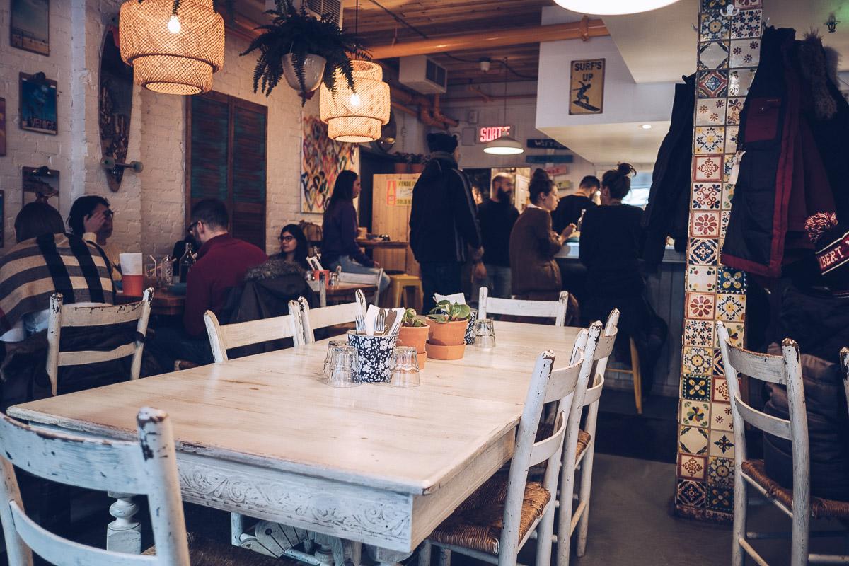Refuse to hibernate Venice MTL salle restaurant