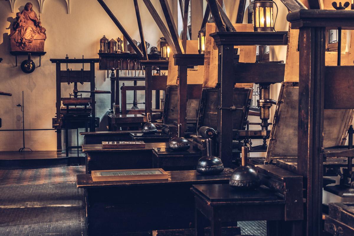 Refuse to hibernate Anvers musee plantin moretus salle des presses
