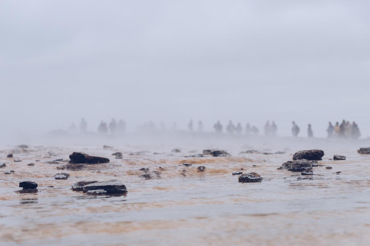Refuse to hibernate islande geysir dans attente du geyser