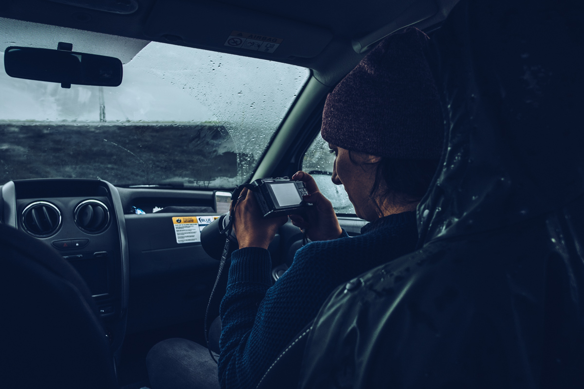 Refuse to hibernate islande jokulsarlon audrey dans la voiture