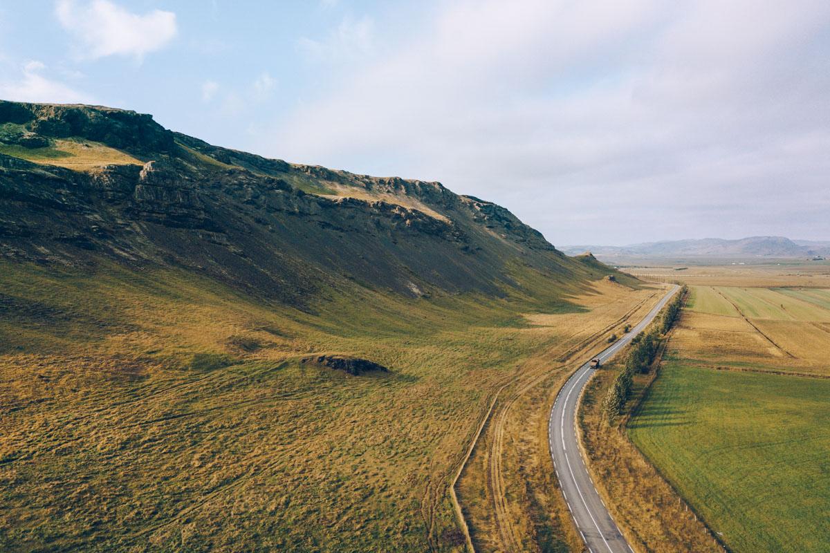 Refuse to hibernate islande route 1 vue drone
