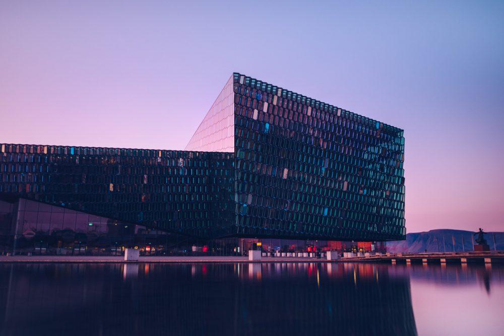 Refuse to hibernate reykjavik harpa coucher de soleil