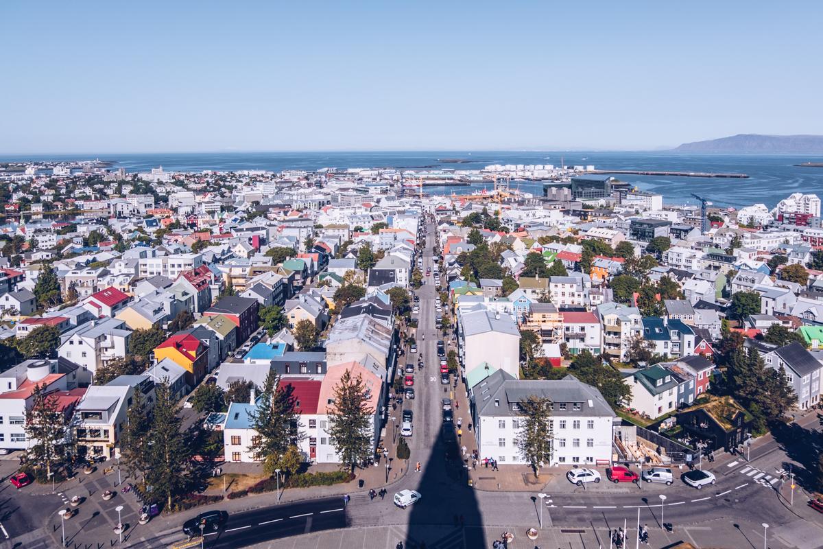 Refuse to hibernate reykjavik vue de la cathedrale hallgrim
