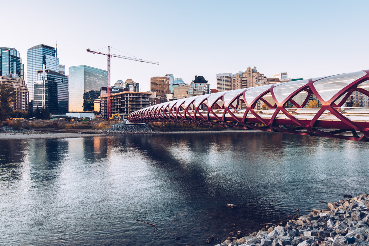 Refuse to hibernate Calgary peace brige matin