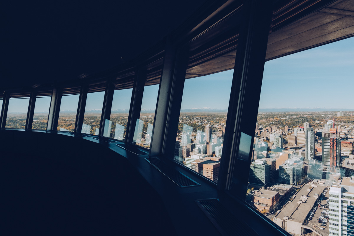 Refuse to hibernate Calgary tower vue 360