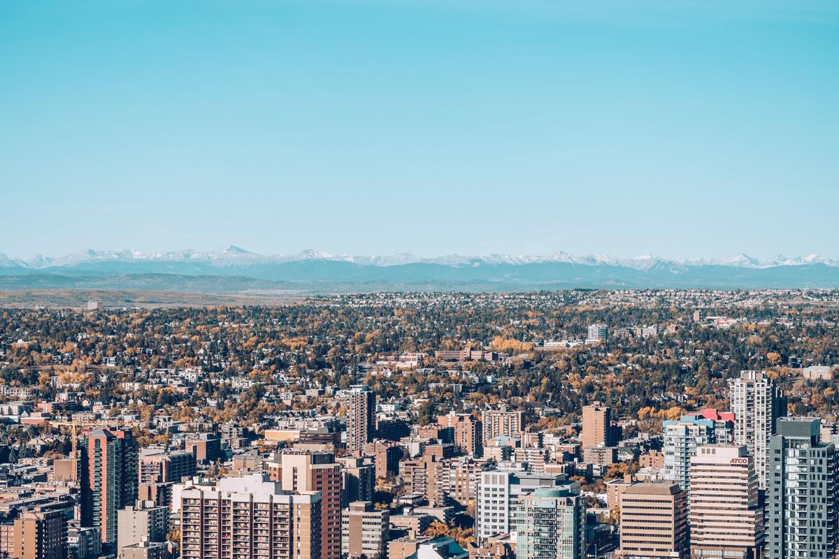 Refuse to hibernate Calgary tower vue ville rocheuses
