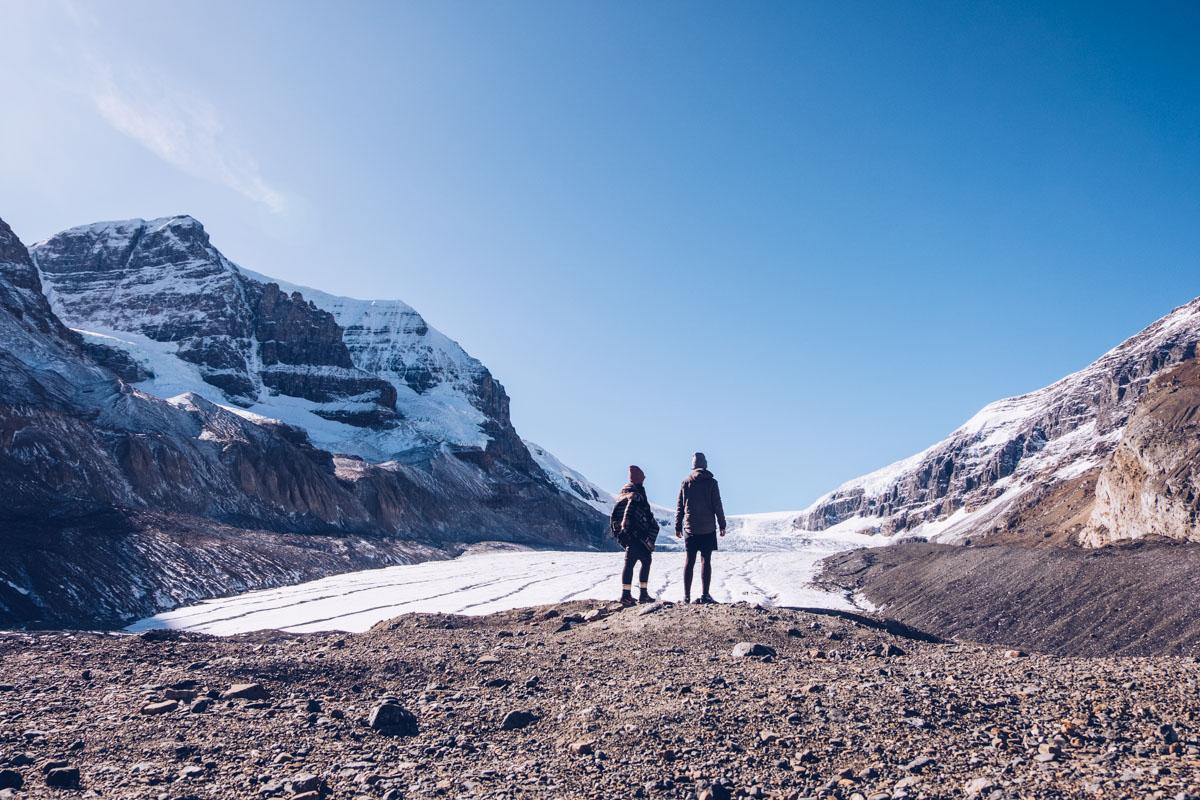 Refuse to hibernate Rocheuses athabasca glacier