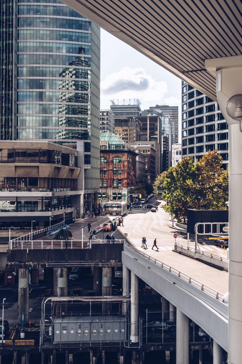 Refuse to hibernate Vancouver vue du port