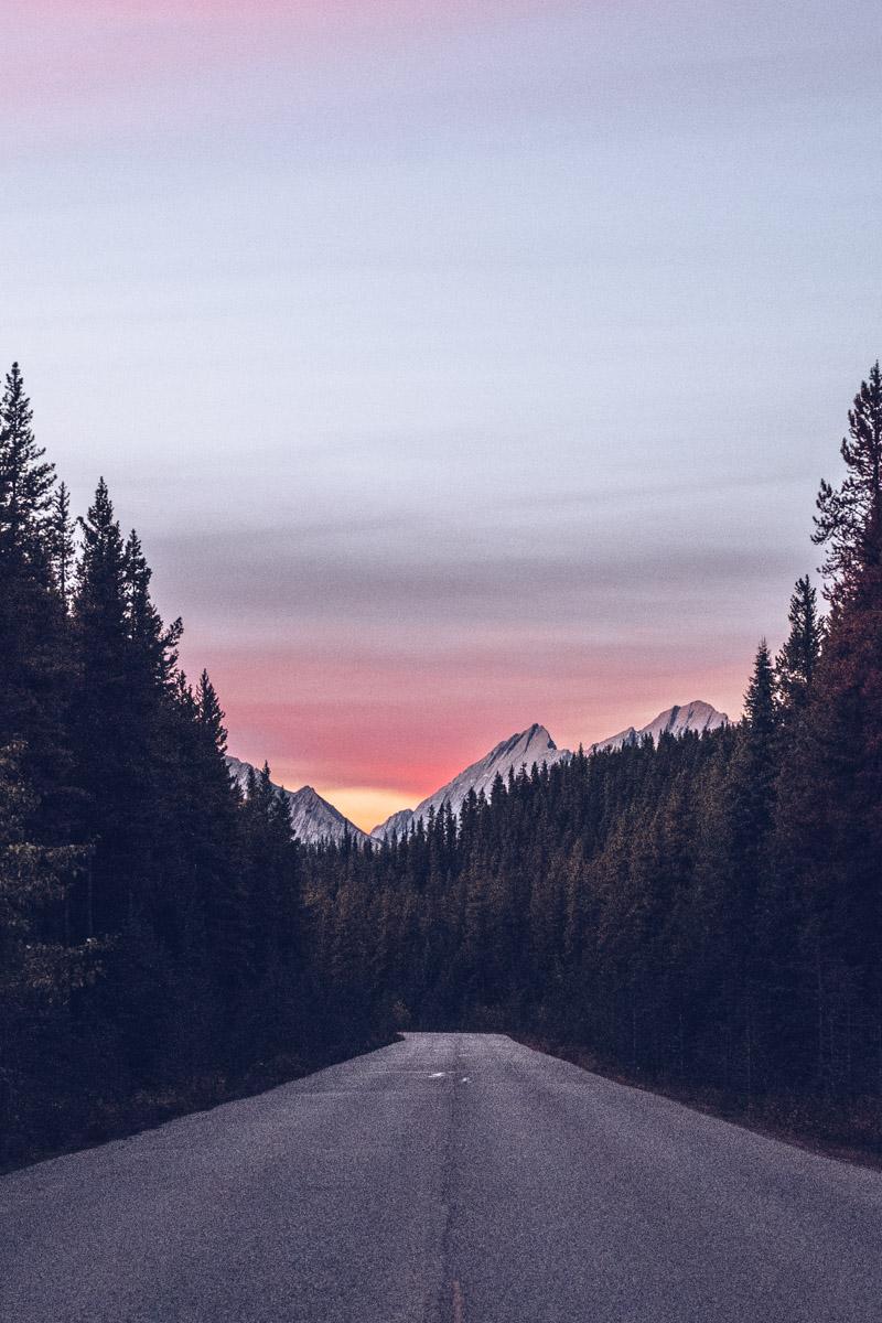 Refuse to hibernate Ouest canadien sur la route lac Maligne