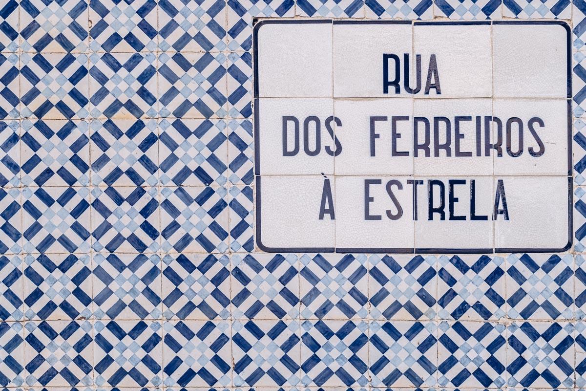 Refuse to hibernate Lisbonne azulejos nom de rue