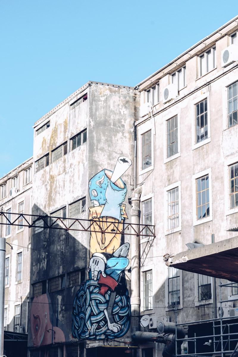 Refuse to hibernate Lisbonne lx factory street art mur