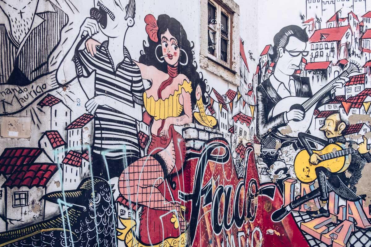 Refuse to hibernate Lisbonne mouraria street art fado