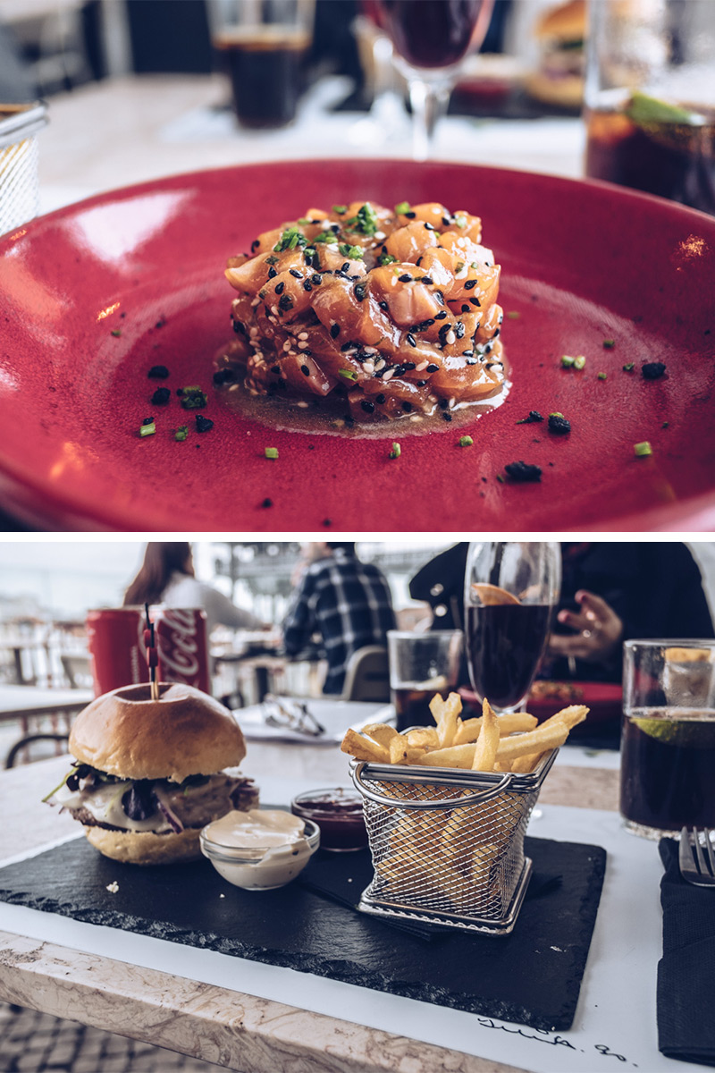 Refuse to hibernate Lisbonne topo chiado tartare saumont burger