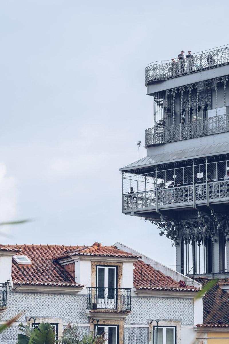 Refuse to hibernate Lisbonne topo chiado vue ascenseur de santa justa