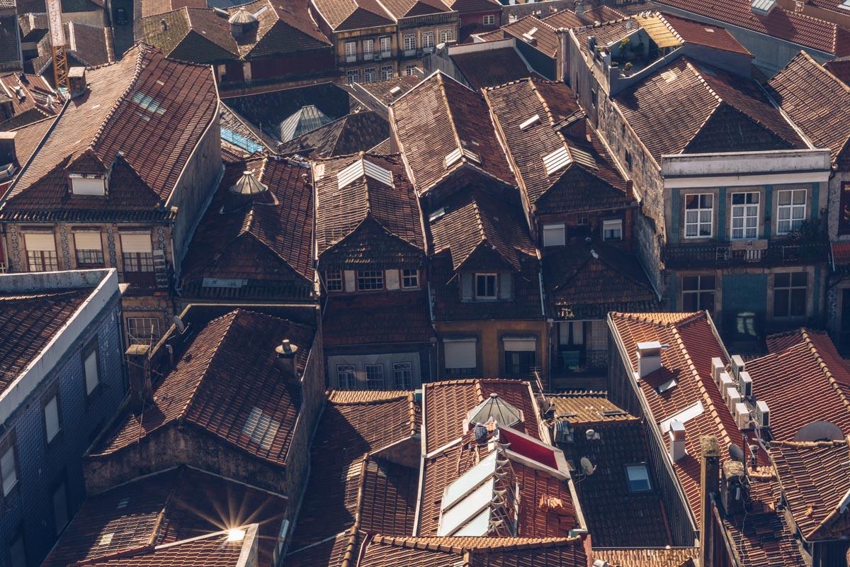 Refuse to hibernate Porto vue maisons tour dos Clerigos