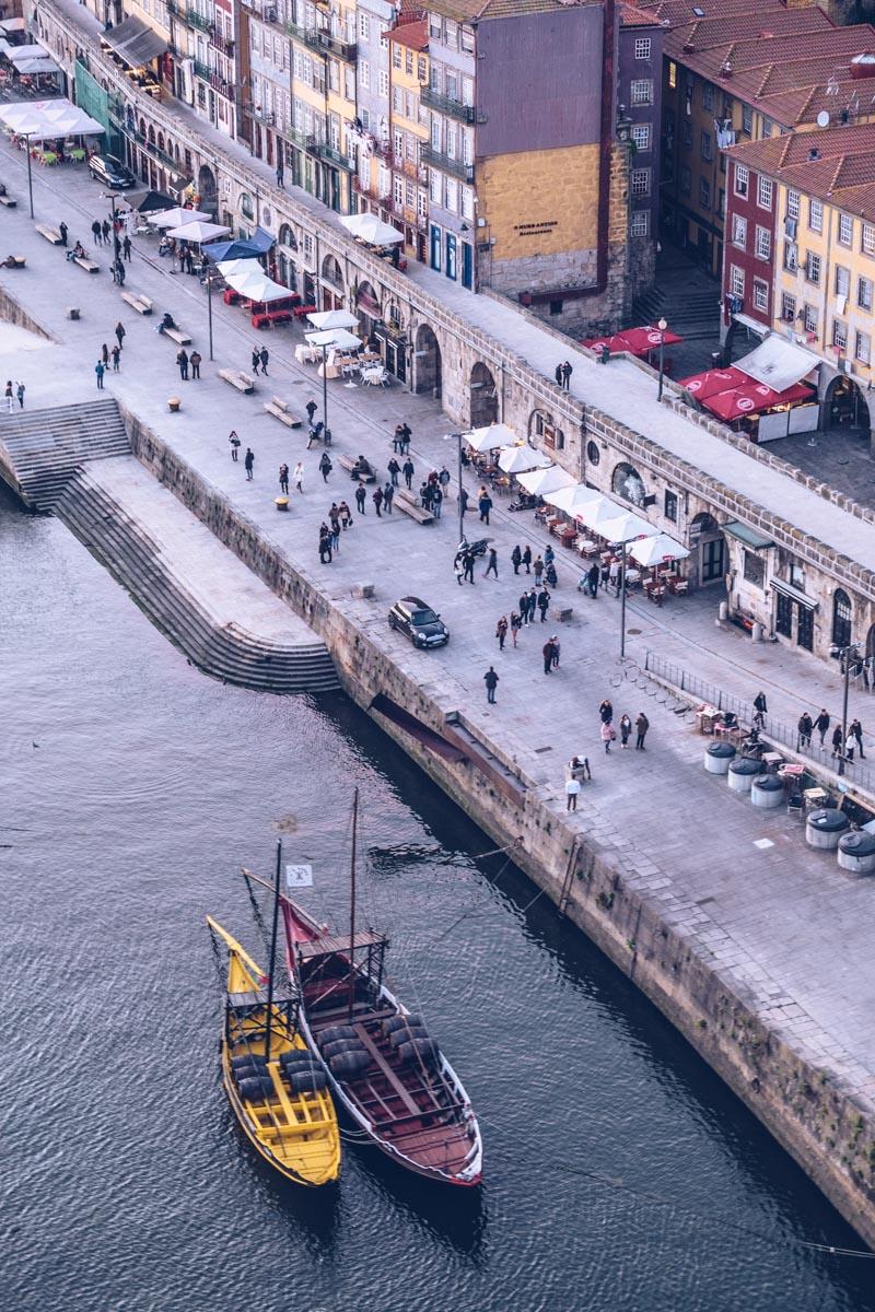 Refuse to hibernate Porto vue quais depuis le pont Dom Luis