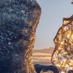 Refuse to hibernate Islande grotte de glace reflets du soleil