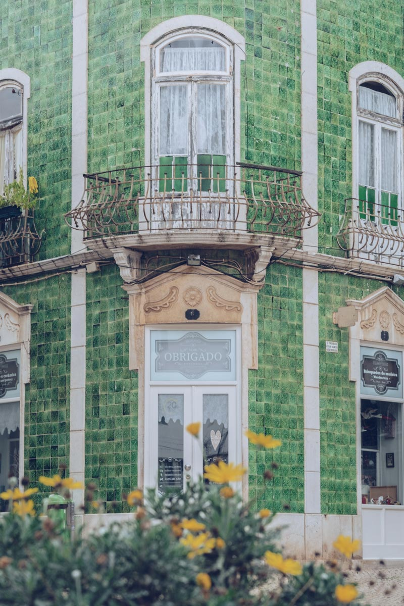 Refuse to hibernate Portugal Faro azulejos verts