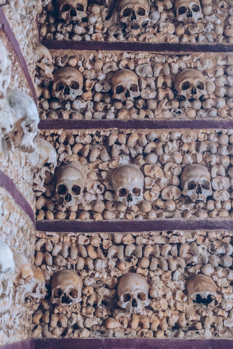 Refuse to hibernate Portugal Faro chapelle des os mur