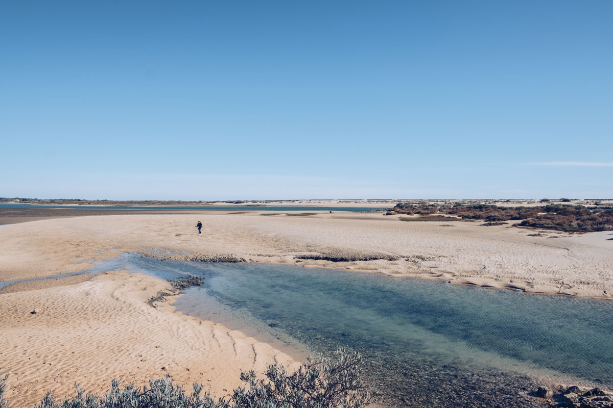 Refuse to hibernate Portugal Tavira plage