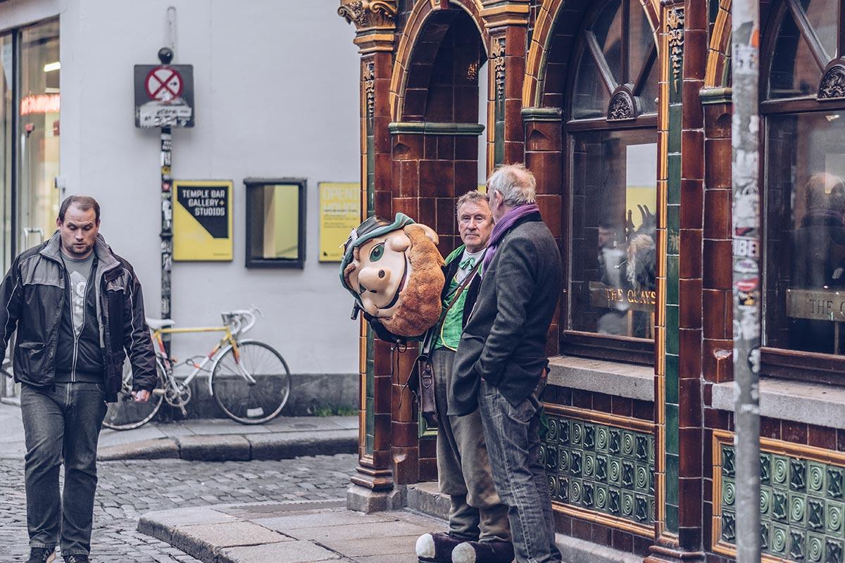Refuse to hibernate Dublin quartier Temple Bar déguisement