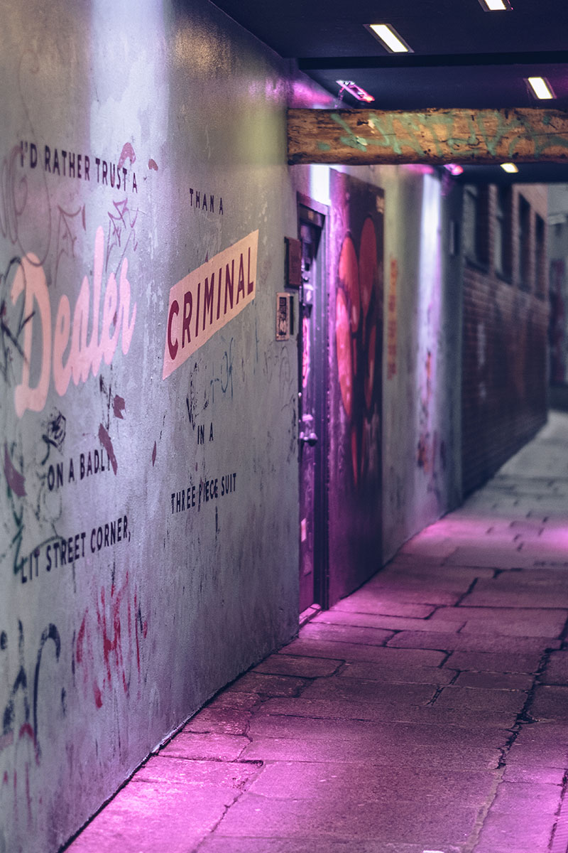 Refuse to hibernate Dublin quartier Temple Bar rue étroite