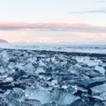 Refuse to hibernate Islande en hiver Diamond beach blocs de glace