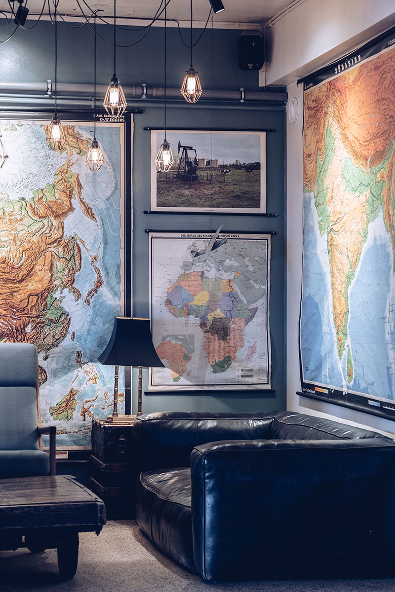 Refuse to hibernate Islande en hiver Reykjavik Kex hostel salon