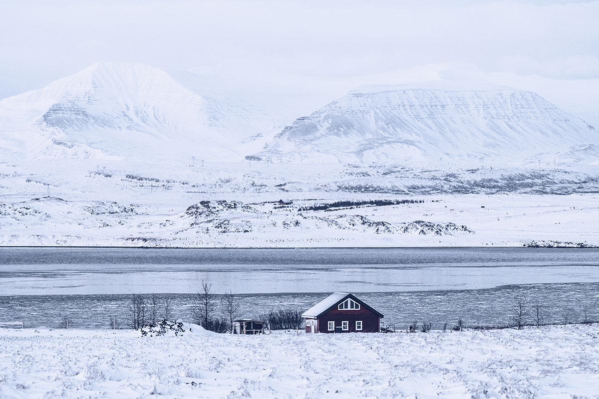 Refuse to hibernate Islande en hiver route 47 maison
