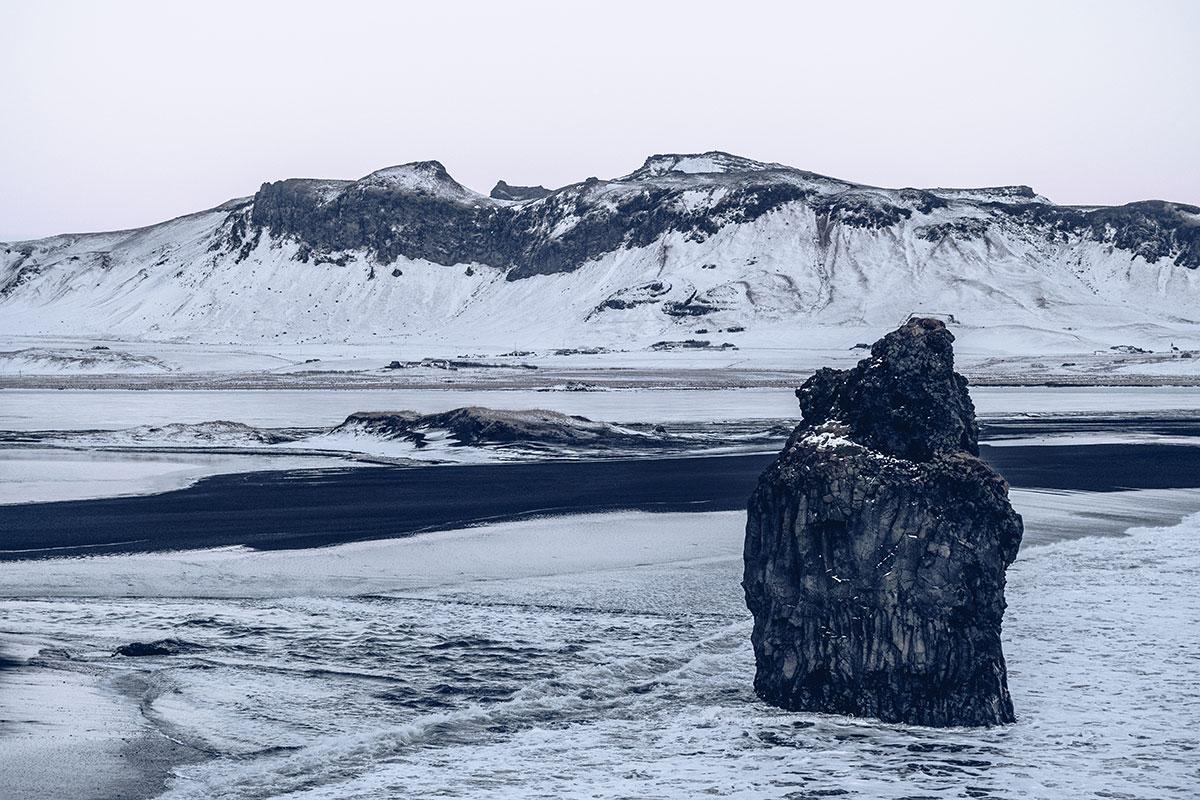 Refuse to hibernate Islande en hiver Vik i Myrdal