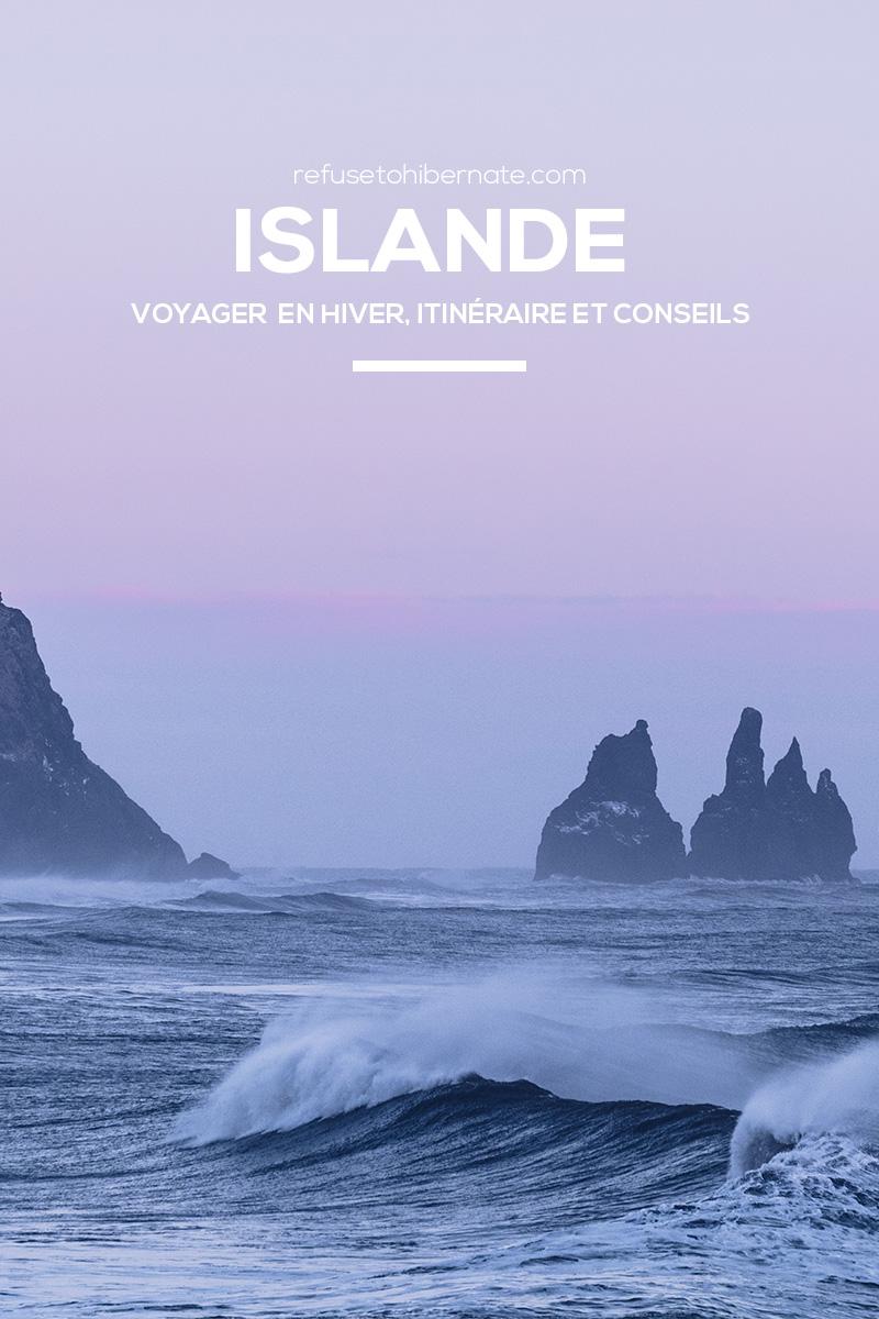 Refuse to hibernate Islande hiver Vik Pinterest