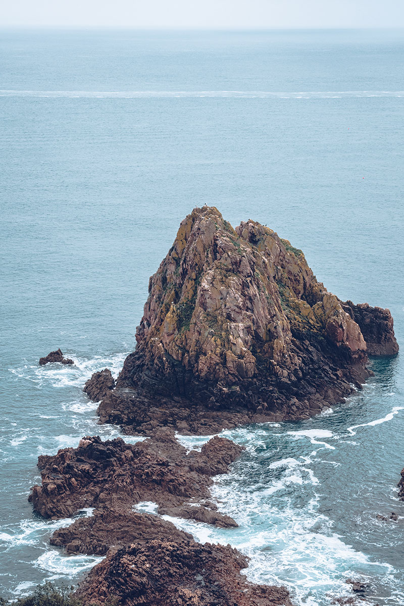 Refuse to hibernate Jersey sentier Beauport gros rocher
