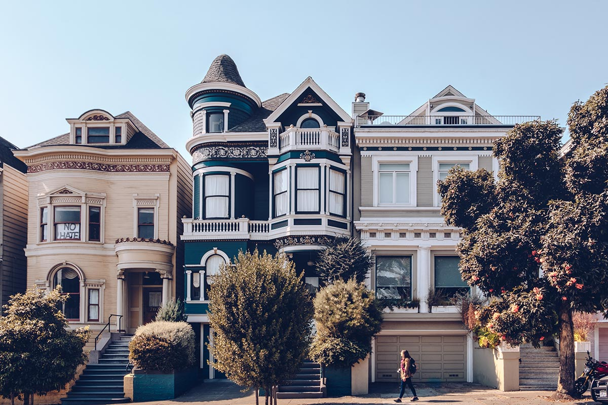 Refuse to hibernate San Francisco Alamo Square Park maisons Audrey