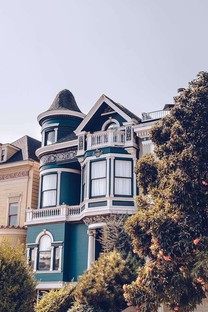 Refuse to hibernate San Francisco Alamo Square Park maisons focus