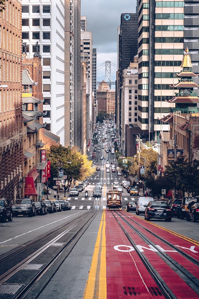 Refuse to hibernate San Francisco Chinatown California Street