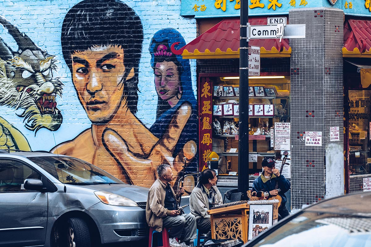Refuse to hibernate San Francisco Chinatown street art